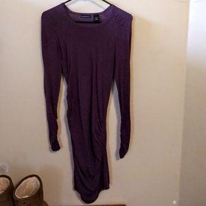 Beautiful Dark Purple warm scrunched Bodycon Dress